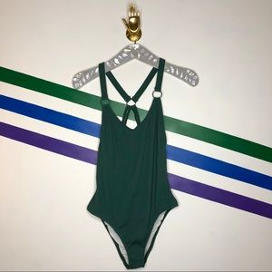 NEW Out from Under ribbed one piece swimsuit